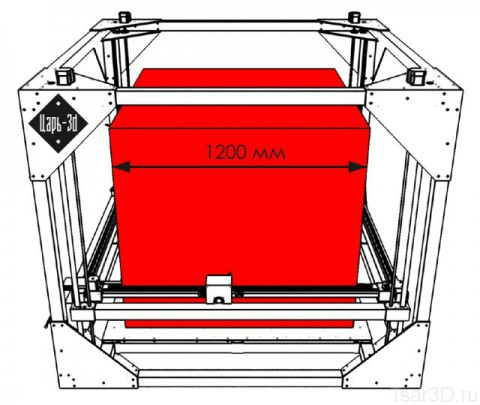 tsar 3d printer big area